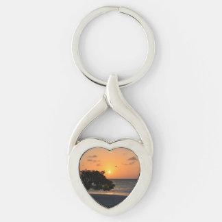 Eagle Beach Sunset Keychain