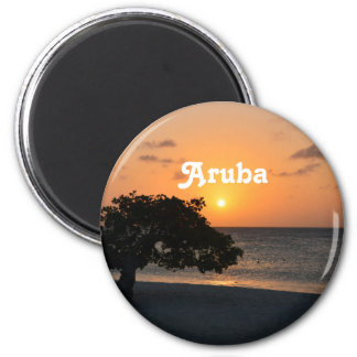 Eagle Beach Sunset 2 Inch Round Magnet