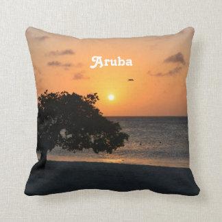 Eagle Beach Sunset Pillow