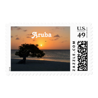 Eagle Beach Sunset Postage Stamps