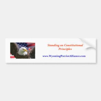 eagle beginning best, Standing on Constitutiona... Car Bumper Sticker