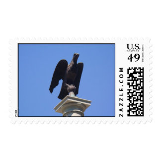 eagle behind state houyse ,boston Massachusetts Stamps