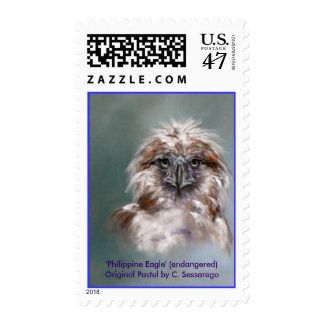 Eagle Bird Prey Wildlife endangered animal art Postage