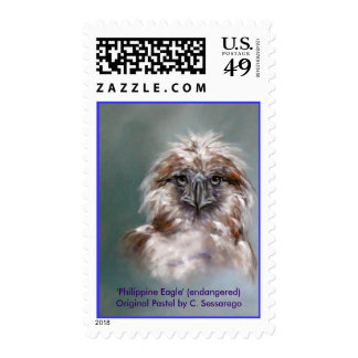 Eagle Bird Prey Wildlife endangered animal art Stamps