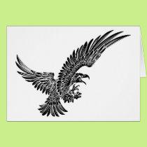 Eagle Bird Swooping Card
