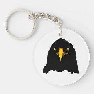 eagle black Double-Sided round acrylic keychain