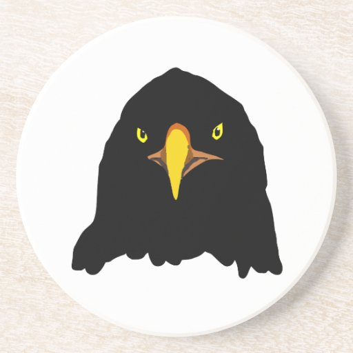 eagle black drink coasters