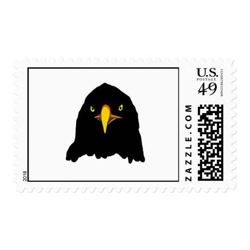 eagle black postage stamp