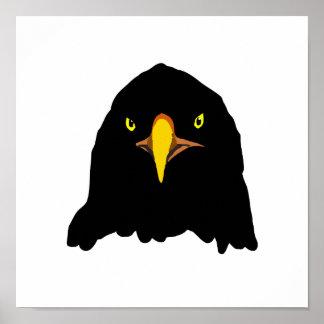 eagle black poster