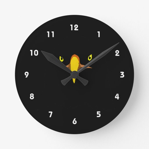 eagle black round clock