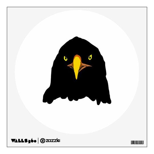 eagle black wall decal