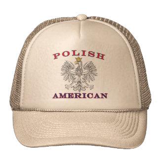 Eagle blanco americano polaco gorro de camionero