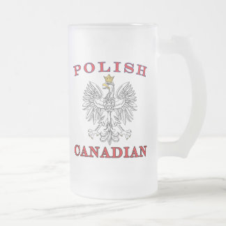 Eagle blanco canadiense polaco taza de cristal