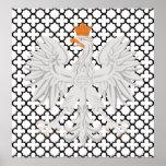 Eagle blanco polaco Quatrefoil blanco y negro Impresiones