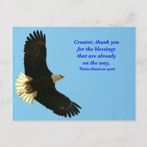 Eagle blessing postcard