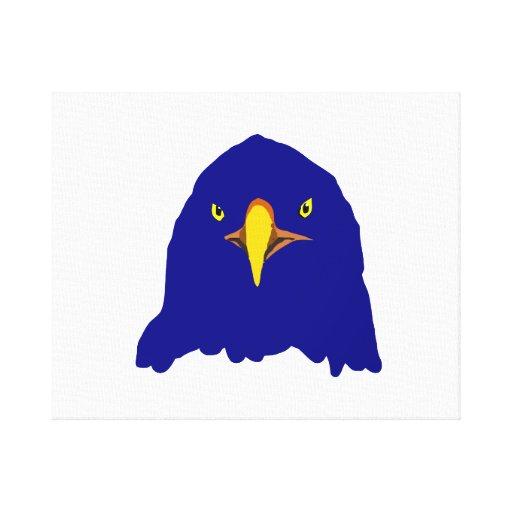 eagle blue canvas print