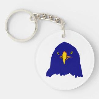 eagle blue Double-Sided round acrylic keychain