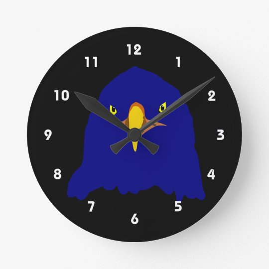 eagle blue round clock