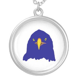 eagle blue round pendant necklace