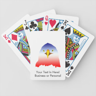 eagle blue white red bicycle playing cards