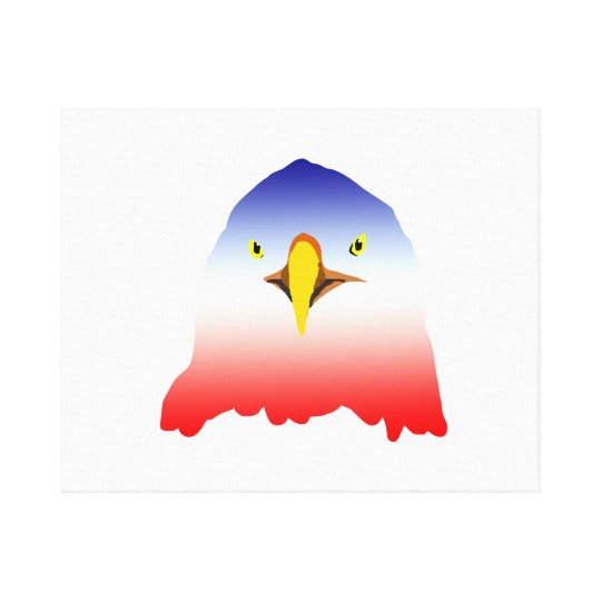 eagle blue white red cartoon canvas print