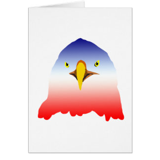 eagle blue white red cartoon card