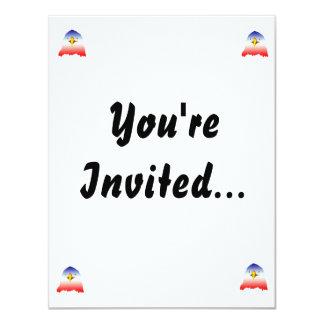 eagle blue white red cartoon 4.25x5.5 paper invitation card