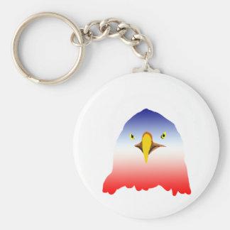 eagle blue white red cartoon key chains