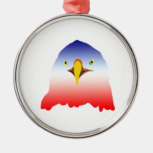 eagle blue white red cartoon ornaments