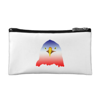 eagle blue white red cosmetic bag
