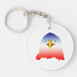 eagle blue white red Double-Sided round acrylic keychain
