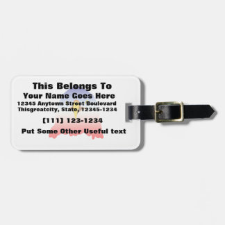 eagle blue white red luggage tag