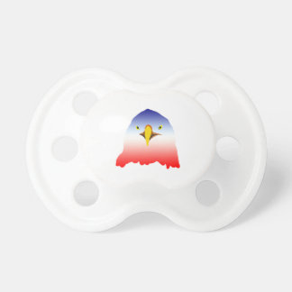 eagle blue white red pacifier