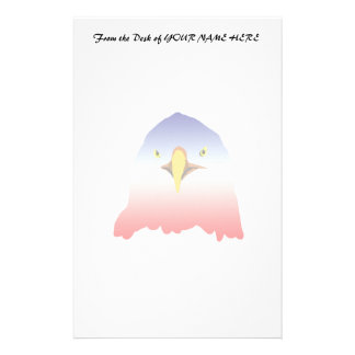 eagle blue white red stationery