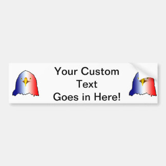 eagle blue white red vertical bumper sticker