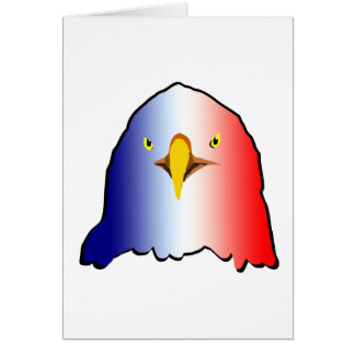 eagle blue white red vertical card