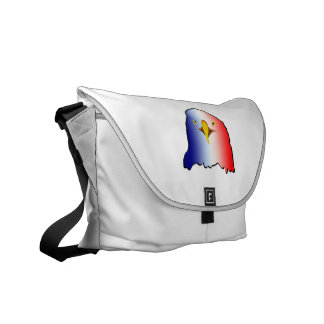 eagle blue white red vertical courier bag