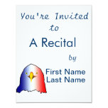 eagle blue white red vertical custom announcements