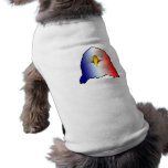 eagle blue white red vertical dog shirt