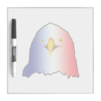 eagle blue white red vertical Dry-Erase board