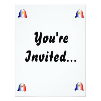 eagle blue white red vertical 4.25x5.5 paper invitation card