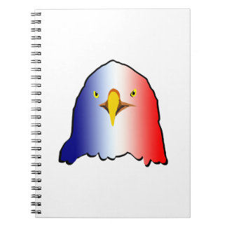 eagle blue white red vertical notebook