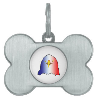 eagle blue white red vertical pet ID tag