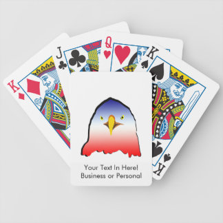 eagle blue white red w outline bicycle playing cards