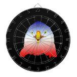 eagle blue white red w outline dartboard