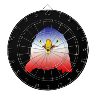 eagle blue white red w outline dartboard with darts