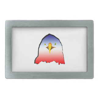 eagle blue white red w outline horizontal gradient belt buckle