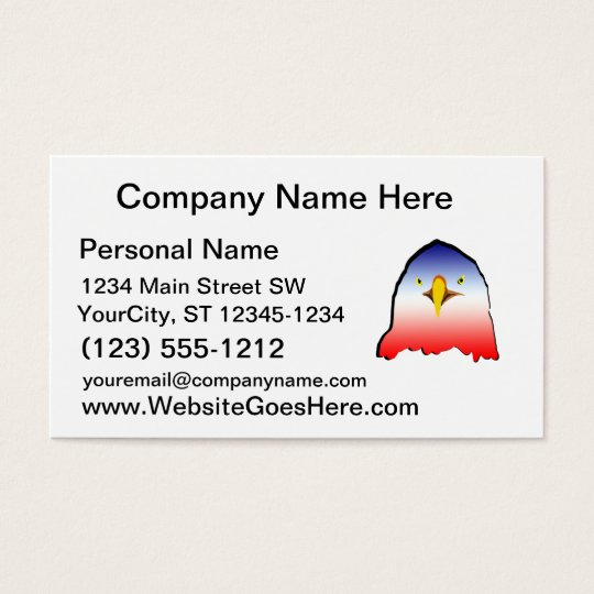 eagle blue white red w outline horizontal gradient business card