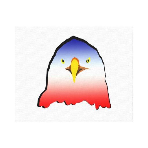 eagle blue white red w outline horizontal gradient canvas prints