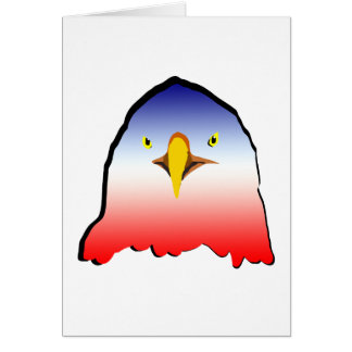 eagle blue white red w outline horizontal gradient card